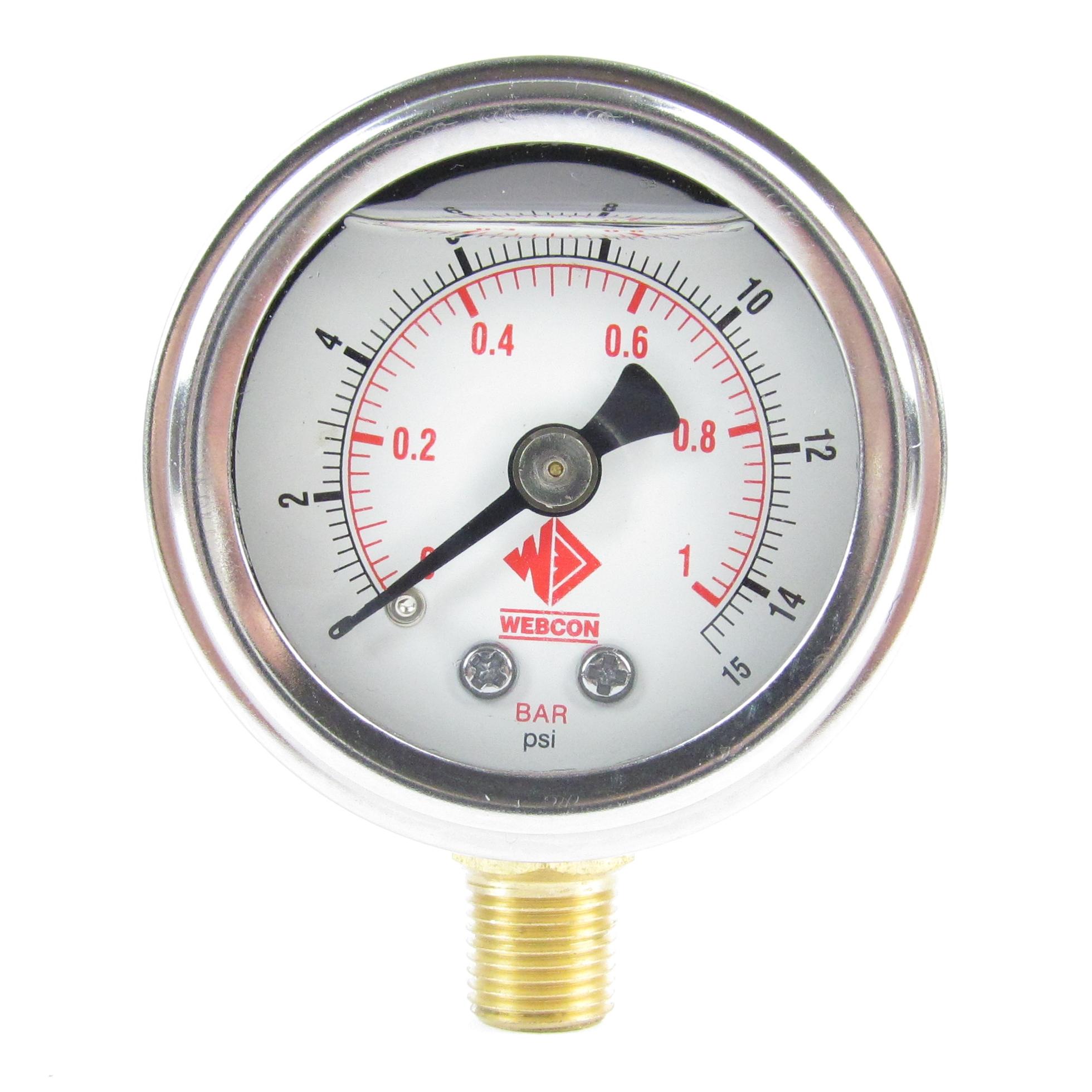 Wfr webcon fuel pressure gauge psi eurocarb