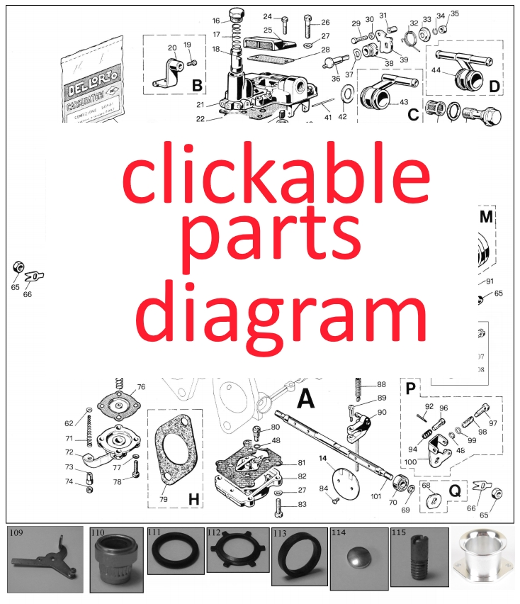 Click-able DHLA parts diagram - Eurocarb
